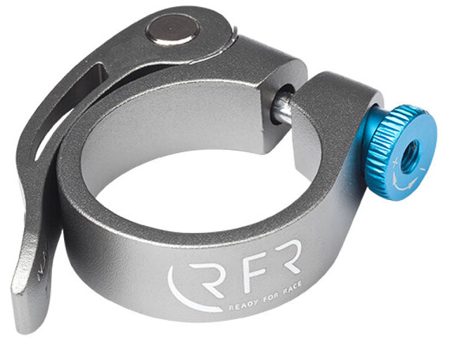 Cube RFR Seat post clamp with quick release grey/blue